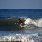 me on improving on my turns at playa dominical