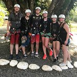 Our zip lining gang of six at Vista Los Suenos Rainforest Tours