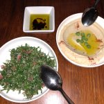 Tabbouleh and Hommus