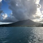Nevis island from the water.
