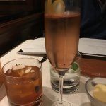 Prosecco and Bourbon -Bacon cocktail