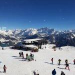 Le restaurant tourne et voici les Alpes: Magnifique!