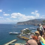 The view from the bay in Sorrento