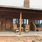Back porch of cabins