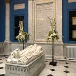 Marble memorial for the owner