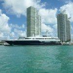 Yacht parked near Marina