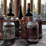 We offer a large selection of Maine craft beer, as well as delicious cider and wine options