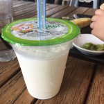 Milkshake - with a serve of plastic. Couldn't drink it or there other one...