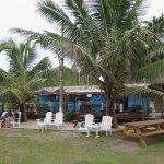 A shot of the seaside restaurant