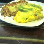 Vegetarian omelet.