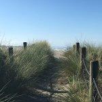 A walkway into the beach