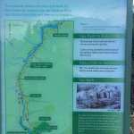 Boards at at Park, Huka Falls and Dam show route and estimated timings.
