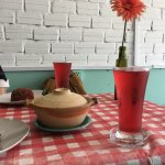 hibiscus drink, cute table setting
