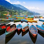 The colors of the boats resembles the colors of Pokhara.