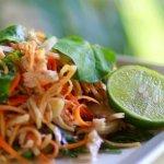BANANA BLOSSOM SALAD: Banana blossom, chicken, peanuts, local herbs