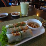 Spring roll and Avocado shake
