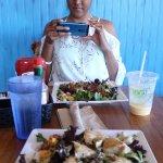 Foreground: Fish Salad, Midground: Crispy Duck Salad, Background: Silly Foodie :)
