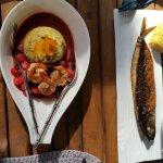Prawn Curry and Whole Mackerel