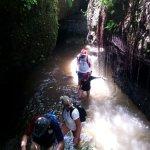 Fun walk to the water fall