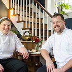 Sous Chef Amanda Combs and Executive Chef Steven Ferrell
