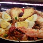 Paella com cauda de lagosta...