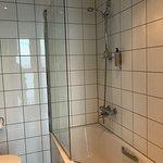Strange shaped bath and shower