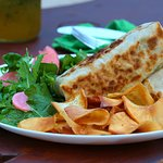 Hearty burritos with our huerta greens