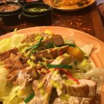 Entrees of Enchiladas and Chicken Mango Salad