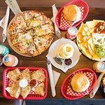 Gran variedad de comida Norteamericana