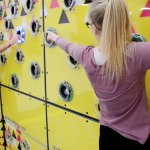 Interactive climbing wall