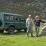 Glenesk Wildlife Andy Malcolm and tour guest. Photographer Michael Huggan