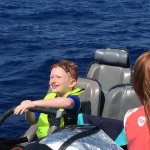 Look at that smiling face after snorkeling with hammerheads! Wait til his friends hear!