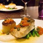 Cod dish at dinner