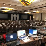 Business convention room