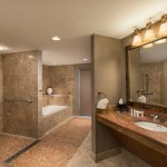 Our Newly Renovated bathroom in the Presidential Suite