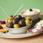 Laila's mixed mezze - a plate of delicious mediterranean goodness
