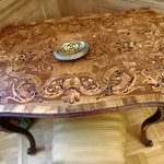Table with intarsia.