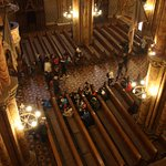Looking down on the pews from on high