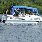 Pontoon boat rentals on Lac Tremblant
