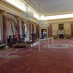 State Dining Room and podium set up for a special event