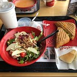 my try 2 combo, Strawberry Chicken Salad, Grilled Cheese Sandwich