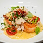 Seafood Risotto, Lobster Tail, Shrimp, Watercress, Dried Tomato, Oyster Mushrooms, Sherry Cream