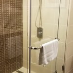 Spacious and clean walk-in shower