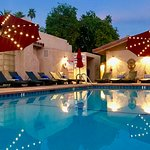 Twilight at the beautiful Terra Cotta nude resort in sunny Palm Springs, CA