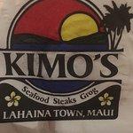 Kimo's cute napkins (grog? )