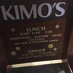 Kimo's sandwich board