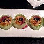 Cucumber sashimi roll