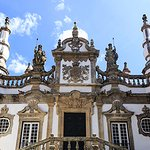 Detail of the main entrance of the Baroque style Mateus Palace, built by the Italian architect N
