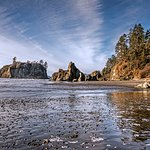 Ruby Beach is close by