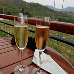 White and Pink sparkling wine by champagne method